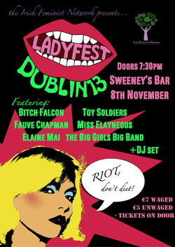 Ladyfest poster - all details available in main text of post.